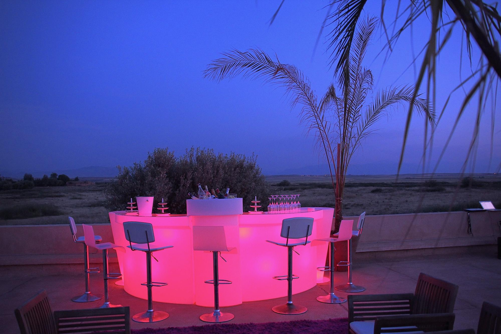 organisation d'anniversaire marrakech location maison villa Taj bar
