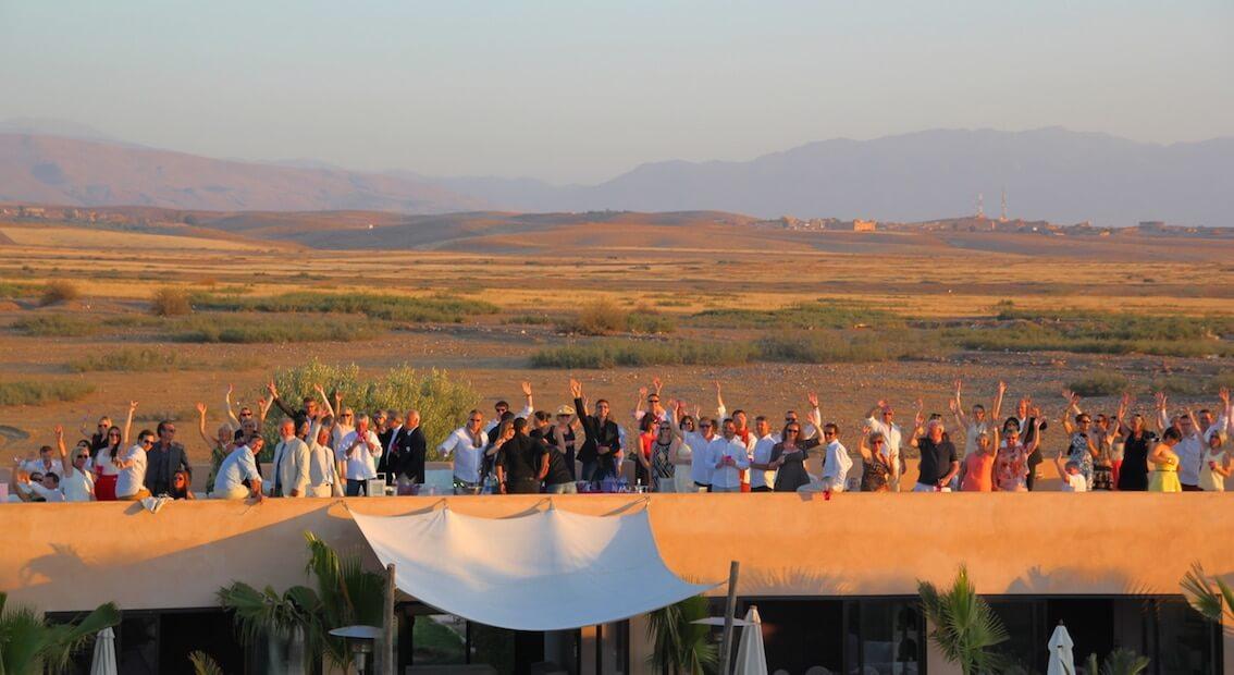 corporate event in morocco