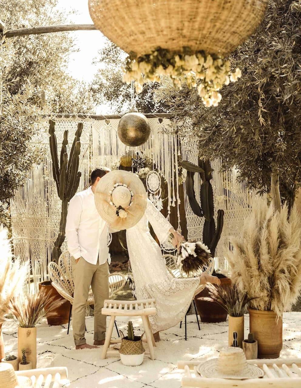 boho wedding in marrakech