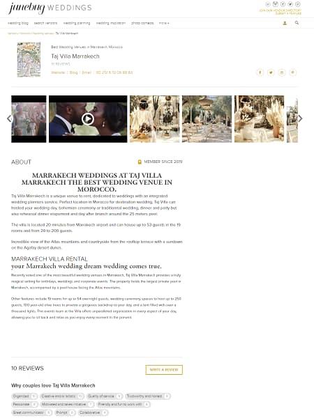 Marrakech Weddings at Taj Villa Marrakech the best wedding venue in Morocco