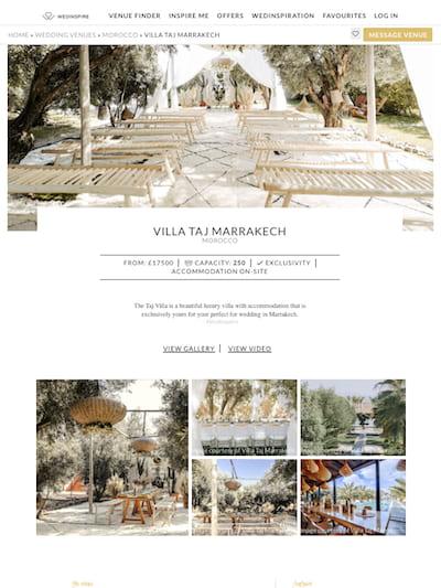 Wedinspire talks about the Taj Villa Marrakech