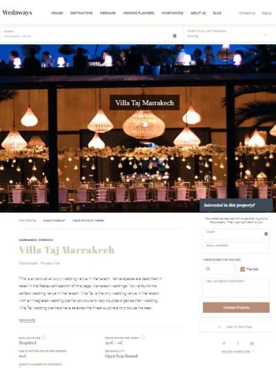 The Taj Villa Marrakech in Wedways