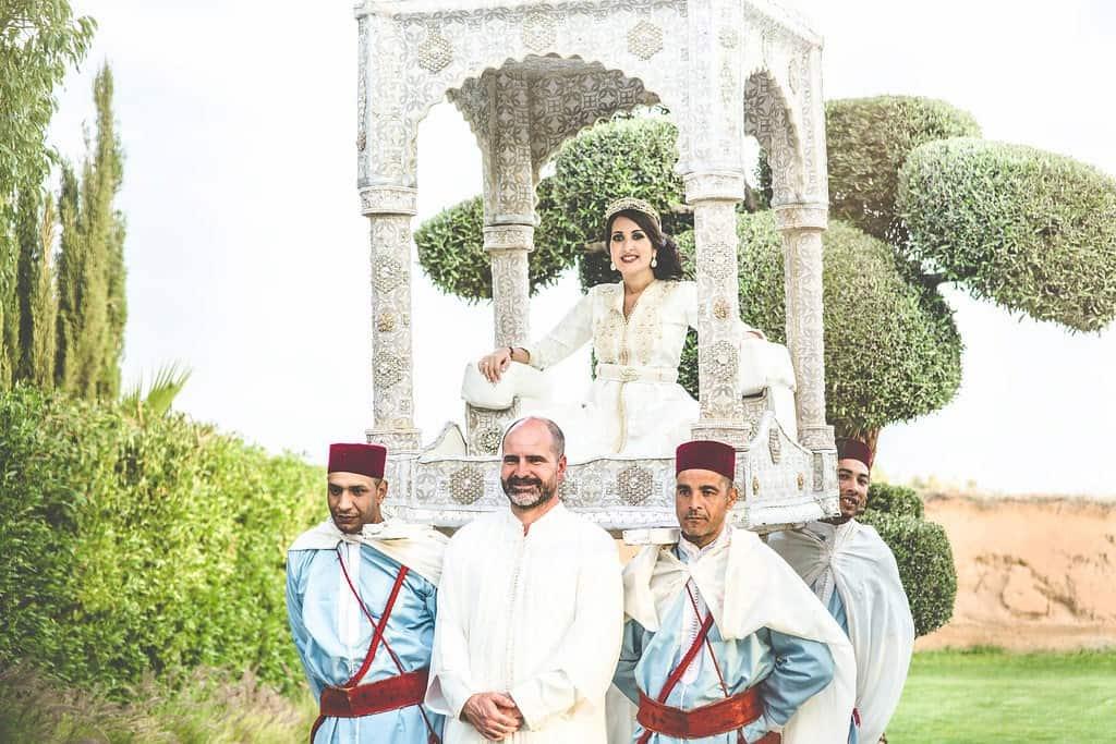 Moroccan wedding style entrance